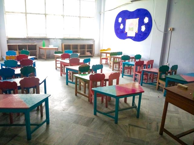 Empty Children's Classroom